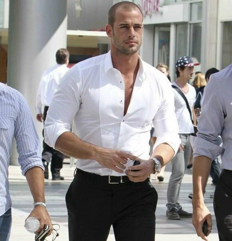 Men in white shirt perfection.