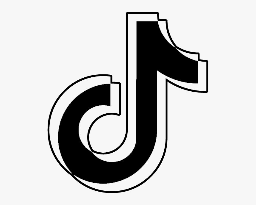 Black And White Tiktok Sign Hd Png Download Snapchat Logo Iphone Photo App Snapchat Icon