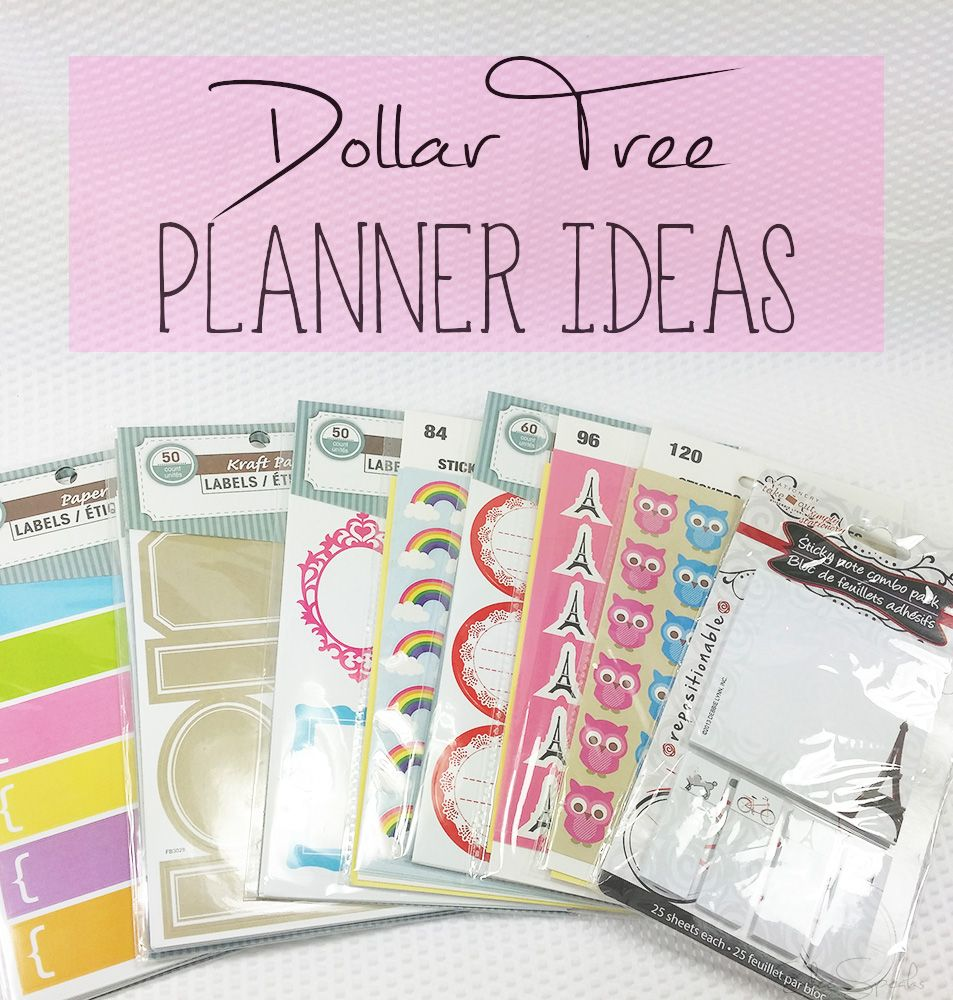 dollartree planner decor ideas super cute cheap 3