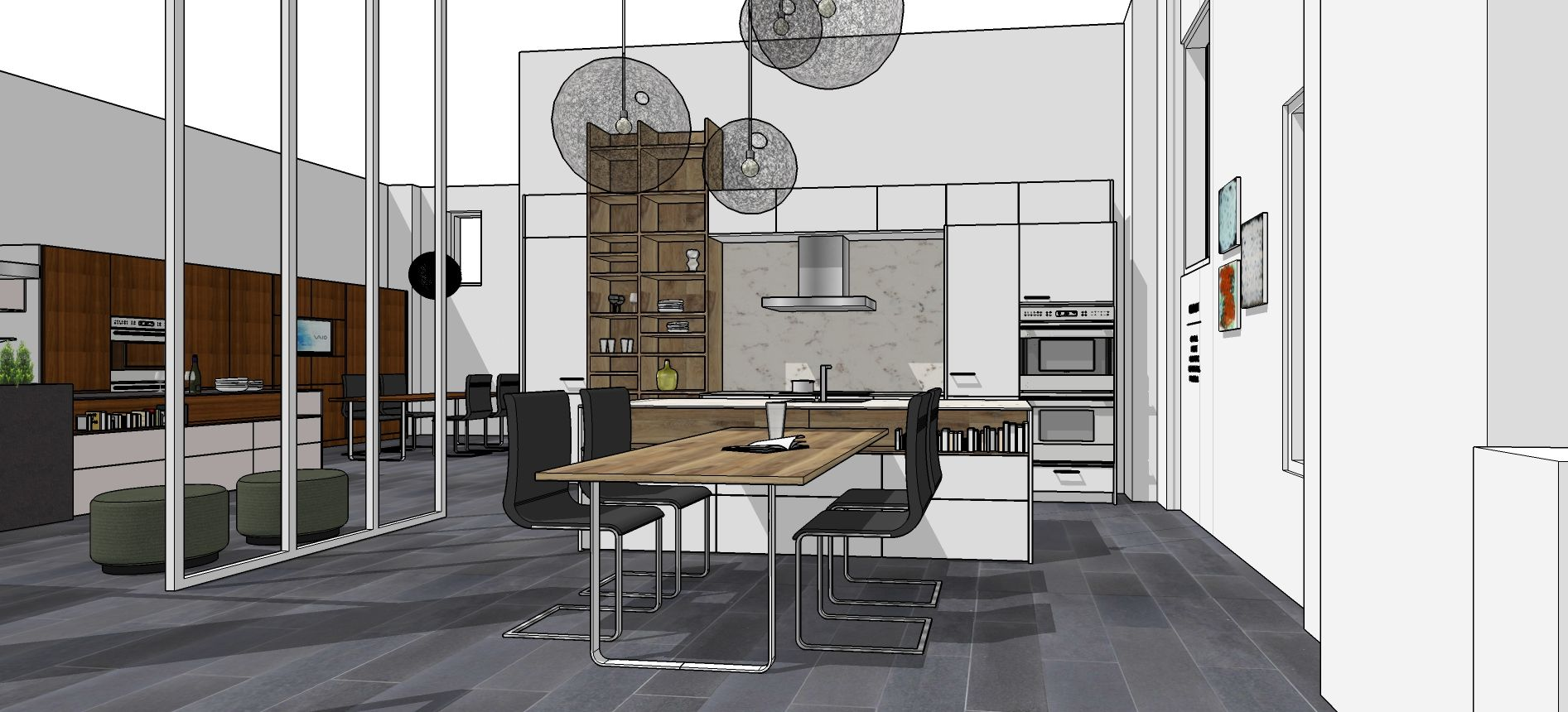 Working in Sketchup