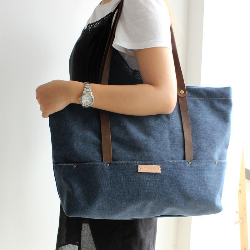 handcrafted canvas tote bag shopper bag women s fashion handbag gym ba  lisabag san francisco 280bf bcd6d fa1da73165