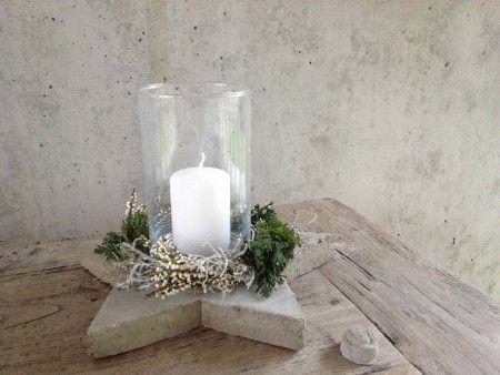 Windlicht mit betonstern bastelkreis pinterest for Beton basteln weihnachten