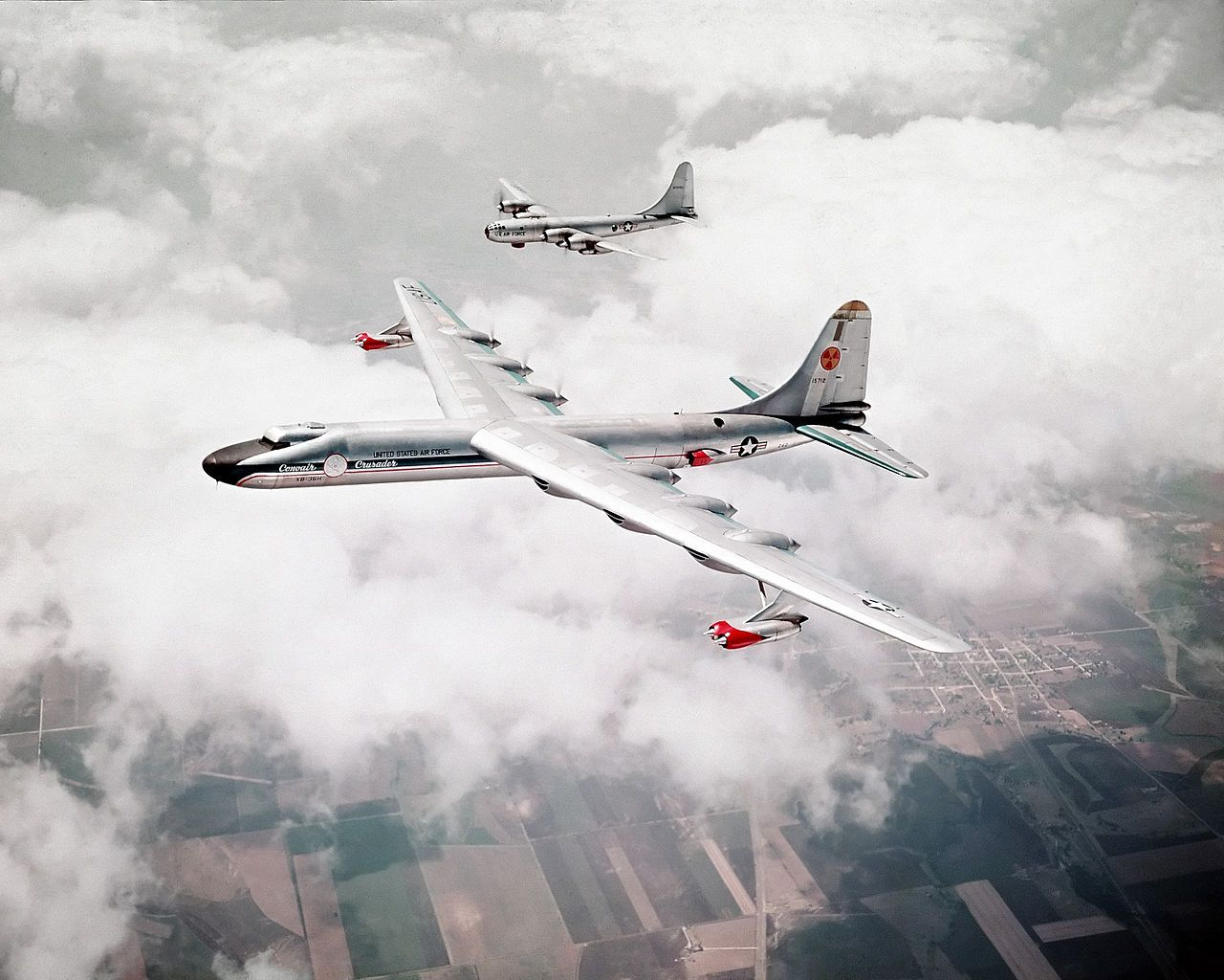 NB-36H with B-50, 1955 - DF-SC-83-09332.jpeg