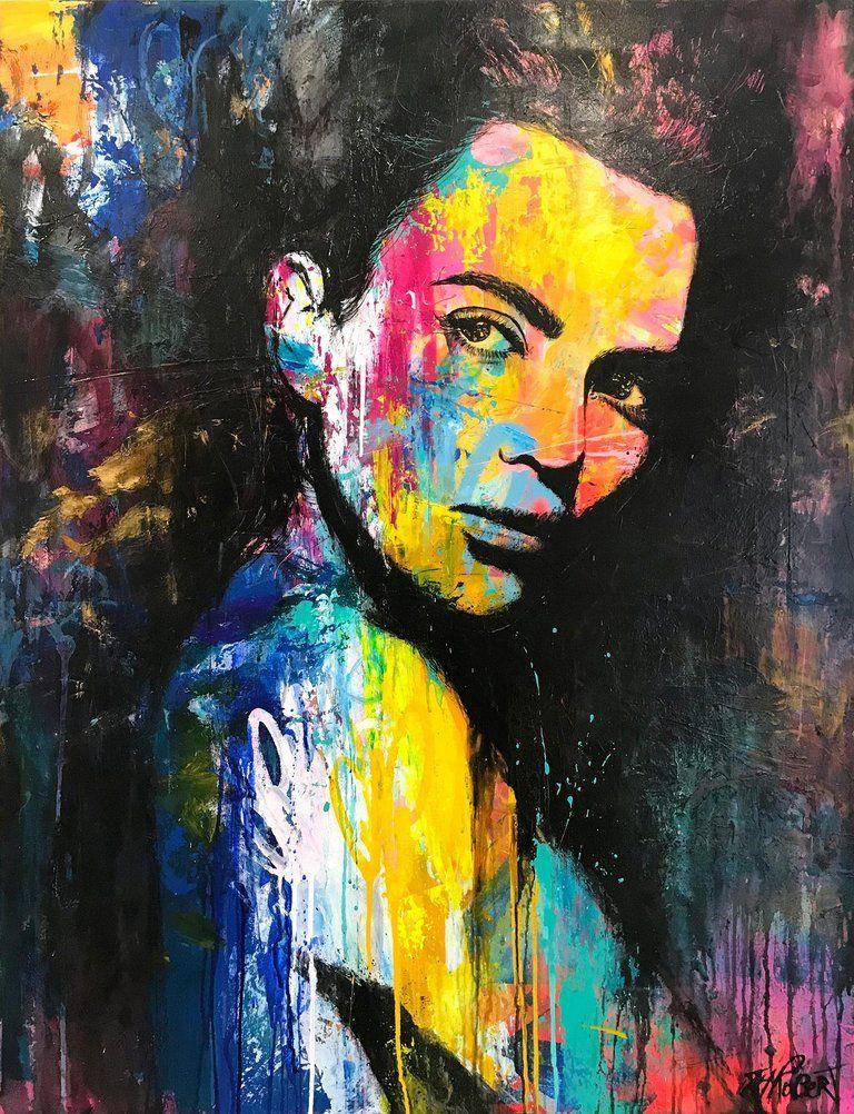 On My Own - by Annie Hamman   Artist, Art, Face art