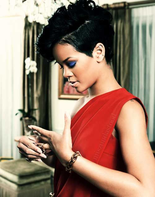 Celebrity Short Hairstyles 2012 2013 Rihanna Short Hair