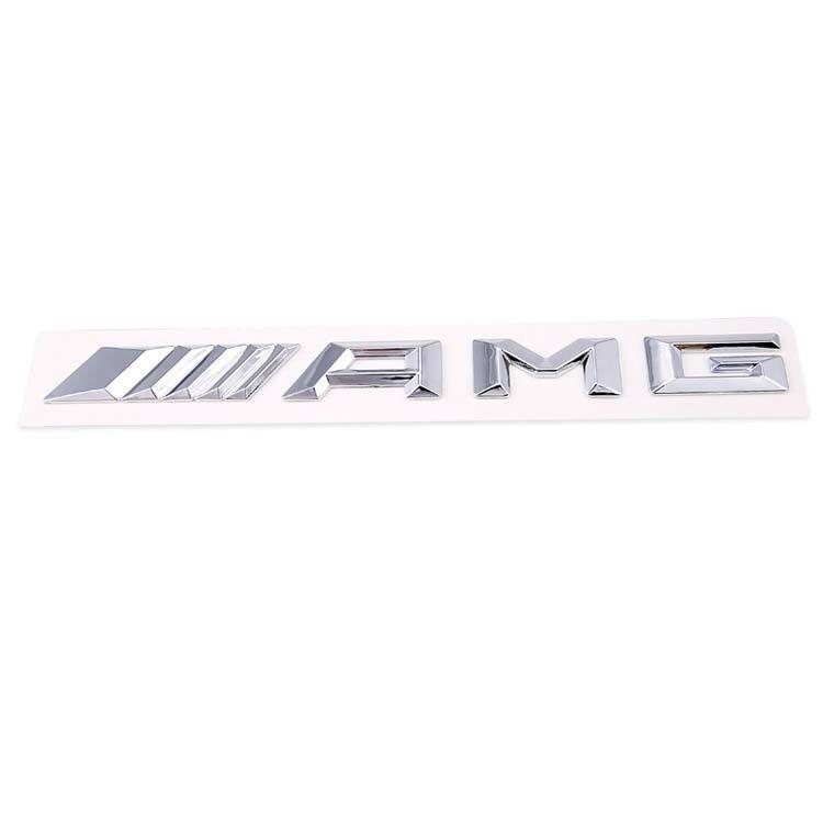 for mercedes benz 3d amg logo silver chrome trunk sticker. Black Bedroom Furniture Sets. Home Design Ideas