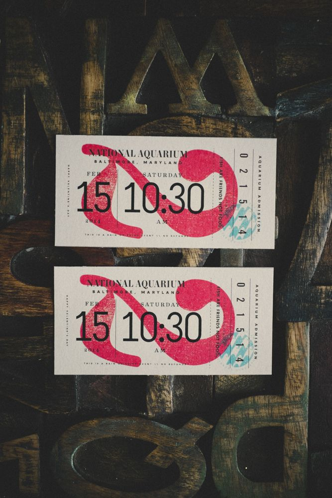homemade national aquarium tickets / mike smith | Typography ...