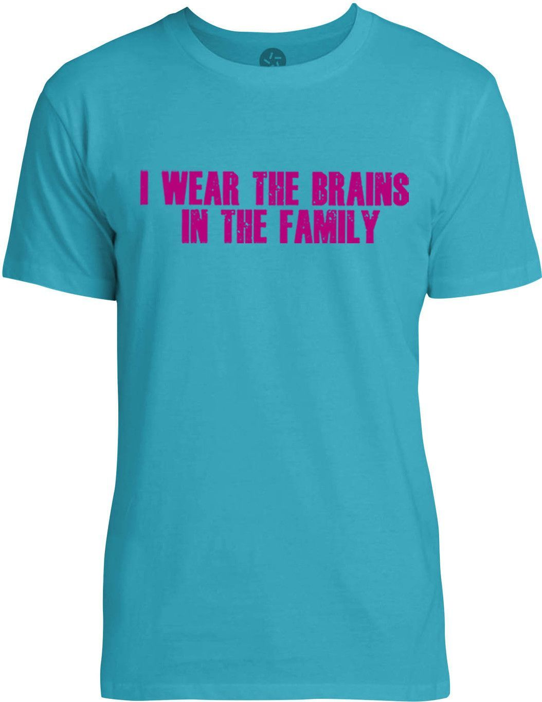 I Wear the Brains in the Family (Pink) Mens Fine Jersey T-Shirt