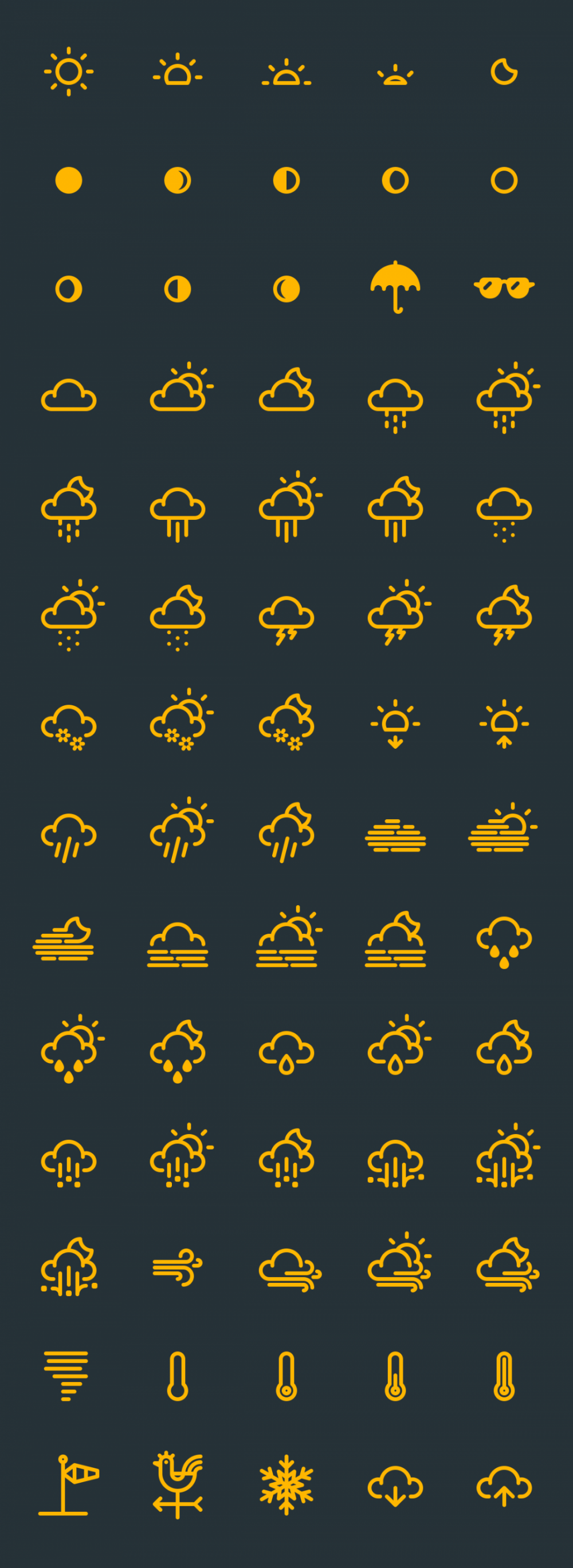 The Best 17+ Free Weather Vector Icon Sets Weather icons