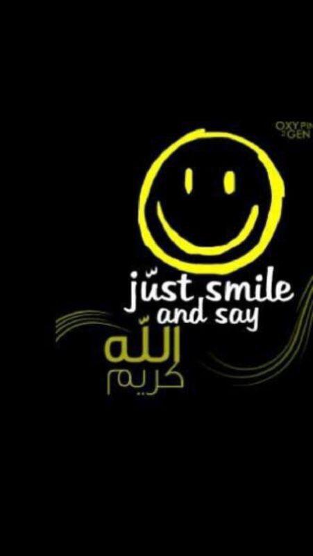 الله كريم Sayings Just Smile Tech Company Logos