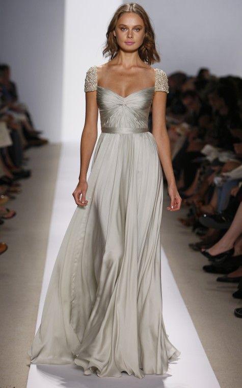 Olivia Wilde 4015 Reem Acra Wedding Dress Bridesmaid Dresses Designer Wedding Gowns