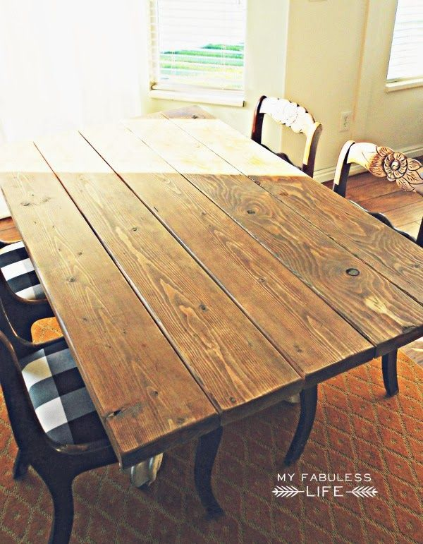 How To Build A Farm Table Staining Wood Diy Furniture Building