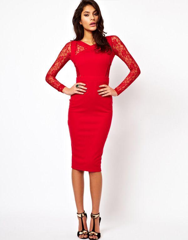 3e6e855ed4d Vestido rojo de Asos  vestidos  invitadas  boda