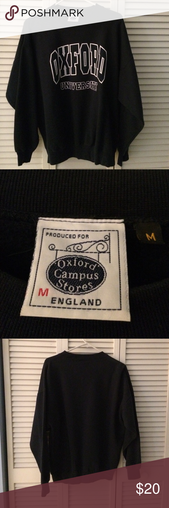 Oxford university crew neck sweatshirt Oxford university crew neck sweatshirt, size Medium, navy blue with white logo. Bought at the campus store in England. Only wore a few times, in good condition Oxford Campus Stores Sweaters Crew & Scoop Necks