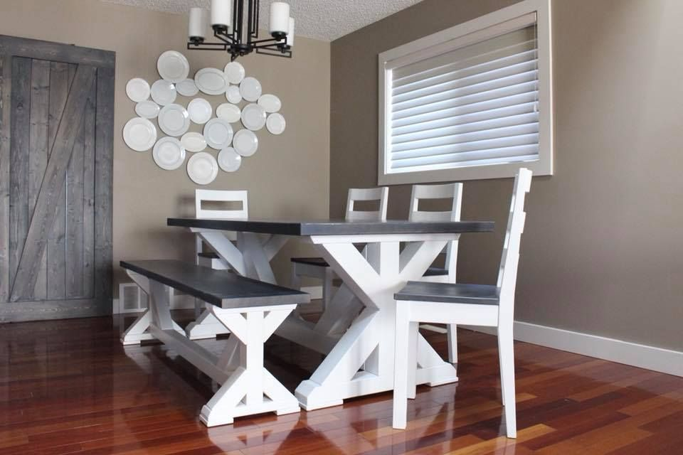 Handmade Dining Table With Chairs And Bench Handmade Dining Table Dining Table With Bench Custom Wood Furniture