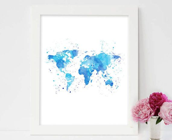 World map watercolor world map word map art world map wall world map watercolor world map word map art world map wall decor world map world map download world map outline world map asia gumiabroncs Image collections