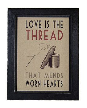 'Love Is The Thread' Framed Print