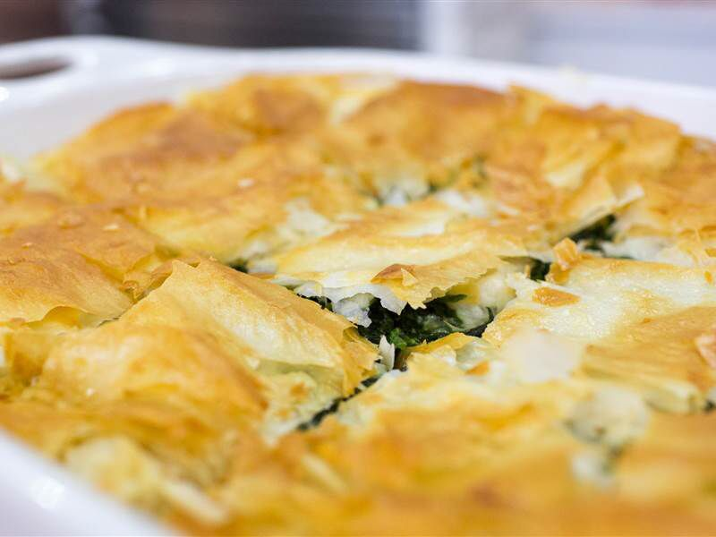 Maria Menounos' flaky spanakopita recipe works for breakfast, lunch and dinner