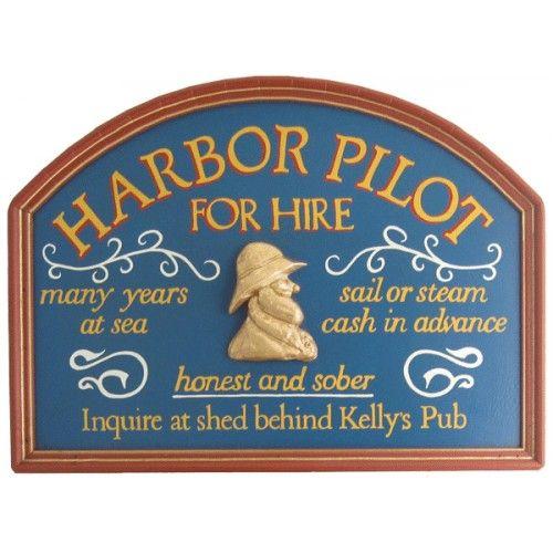 Harbor Pilot Wood Sign