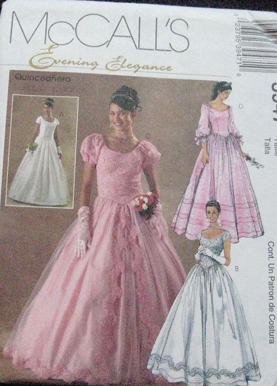 McCalls Evening Wedding Quinceanera Dress Pattern by TheHowlingHag ...