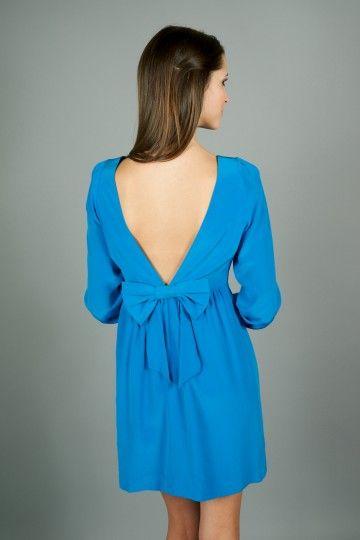 Blue Bow Back Dress