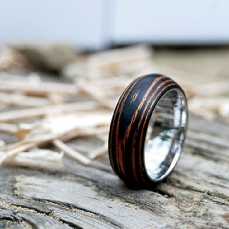 Beautiful Wooden Wedding Ring Here comes the bride Pinterest
