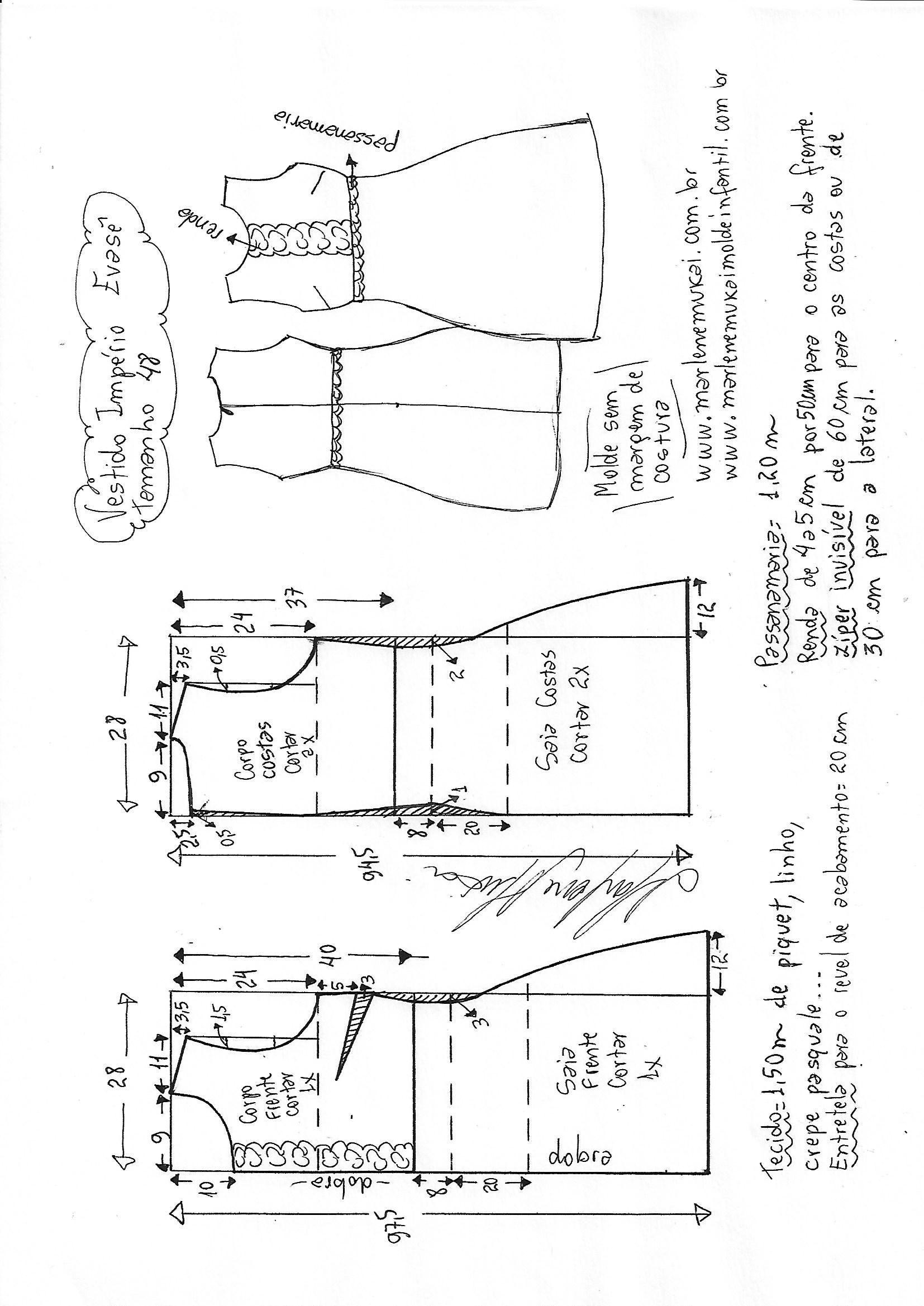 Pin de Vale Gonzalez en patrones | Costura, Patrones y Vestidos imperio