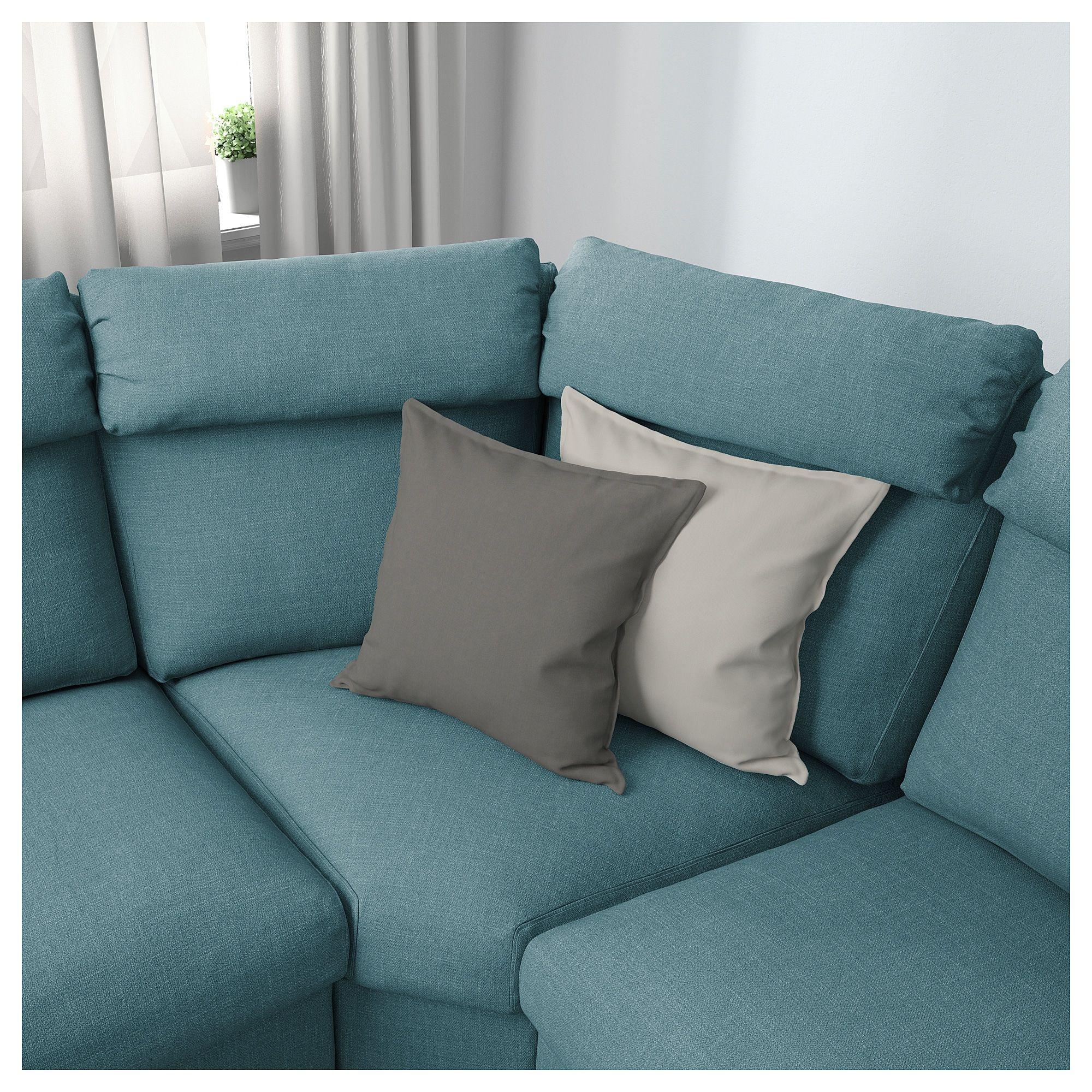 Brilliant Lidhult Sectional 5 Seat Corner Gassebol Blue Gray In Machost Co Dining Chair Design Ideas Machostcouk