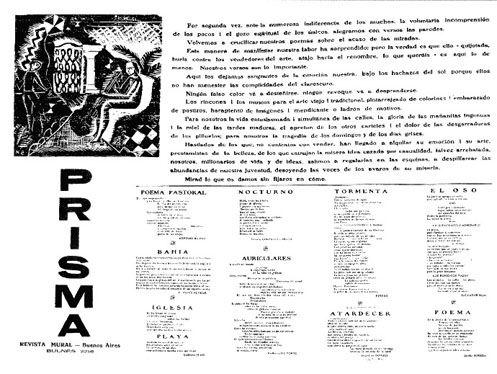 Segundo Numero De La Revista Mural Prisma Fundada Por Jorge Luis