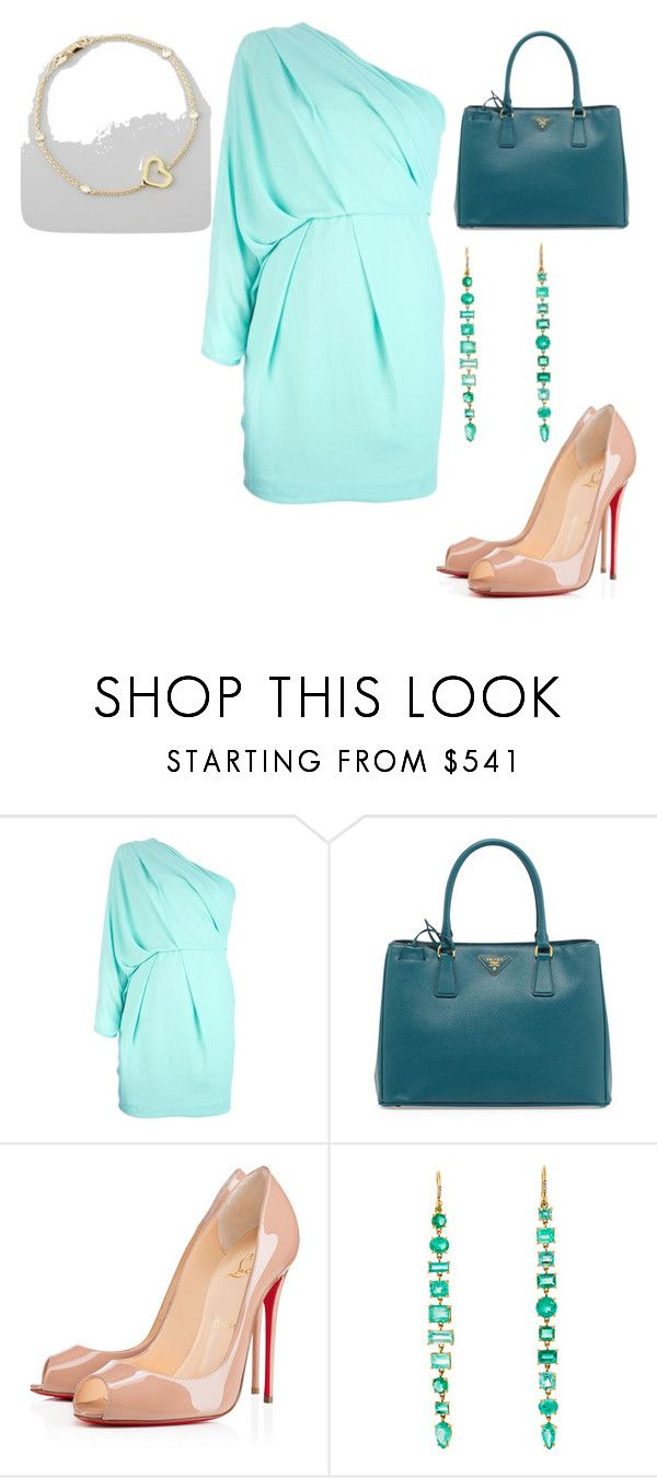 """Untitled #23671"" by edasn12 ❤ liked on Polyvore featuring Diane Von Furstenberg, Prada, Youpi, Irene Neuwirth and Roberto Coin"