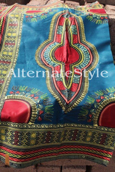 Dashiki 3 Yards Green Dark Green Dashiki Fabric | Fashion For Women ...
