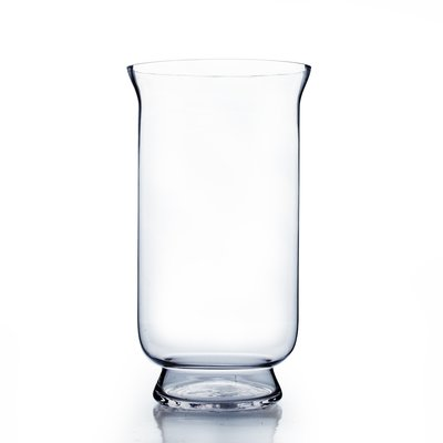 Wgvinternational Hurricane Glass Vase Size 15 H X 8 W X 8 D