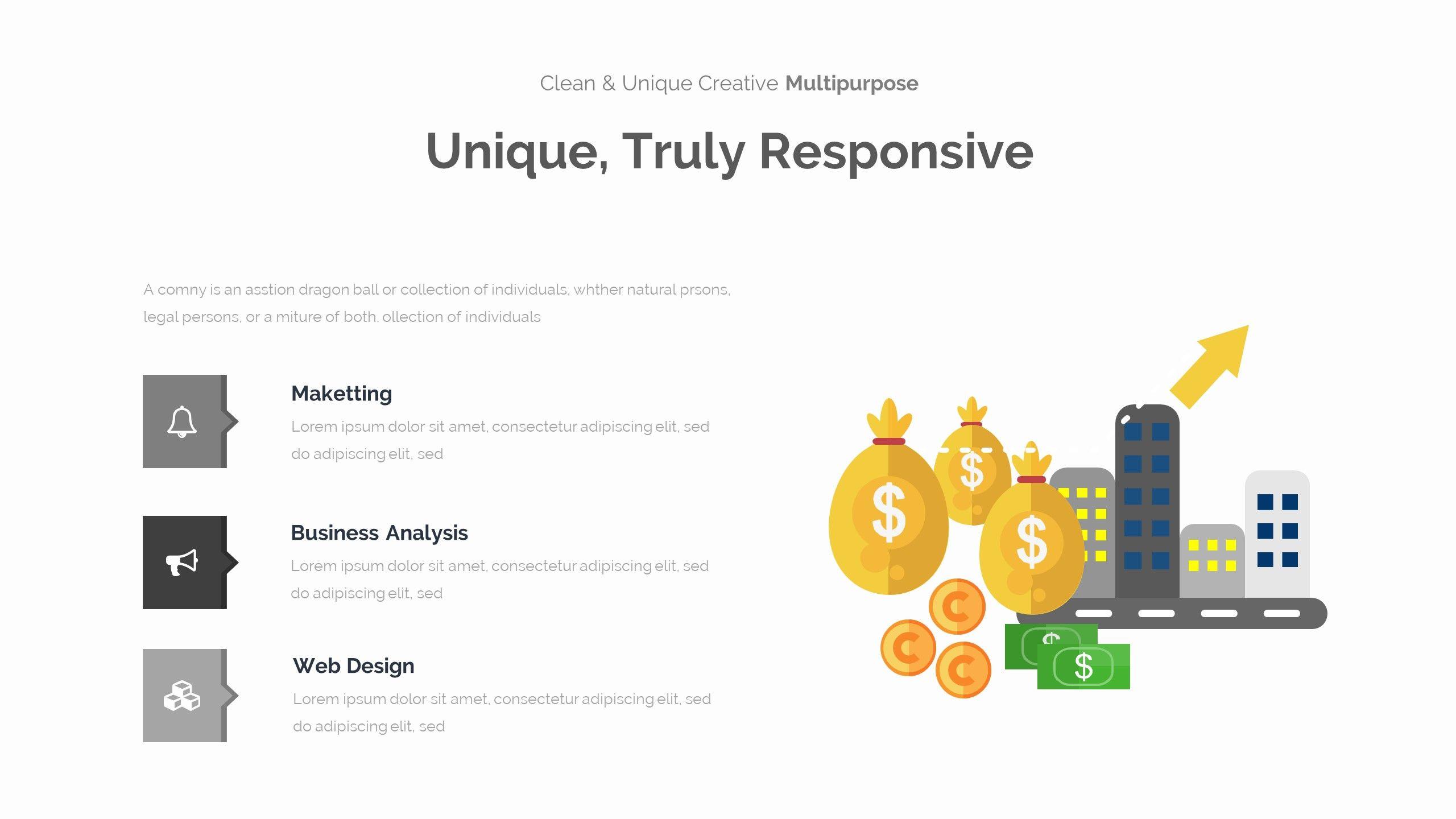 Amely minimal design keynote template brochure template