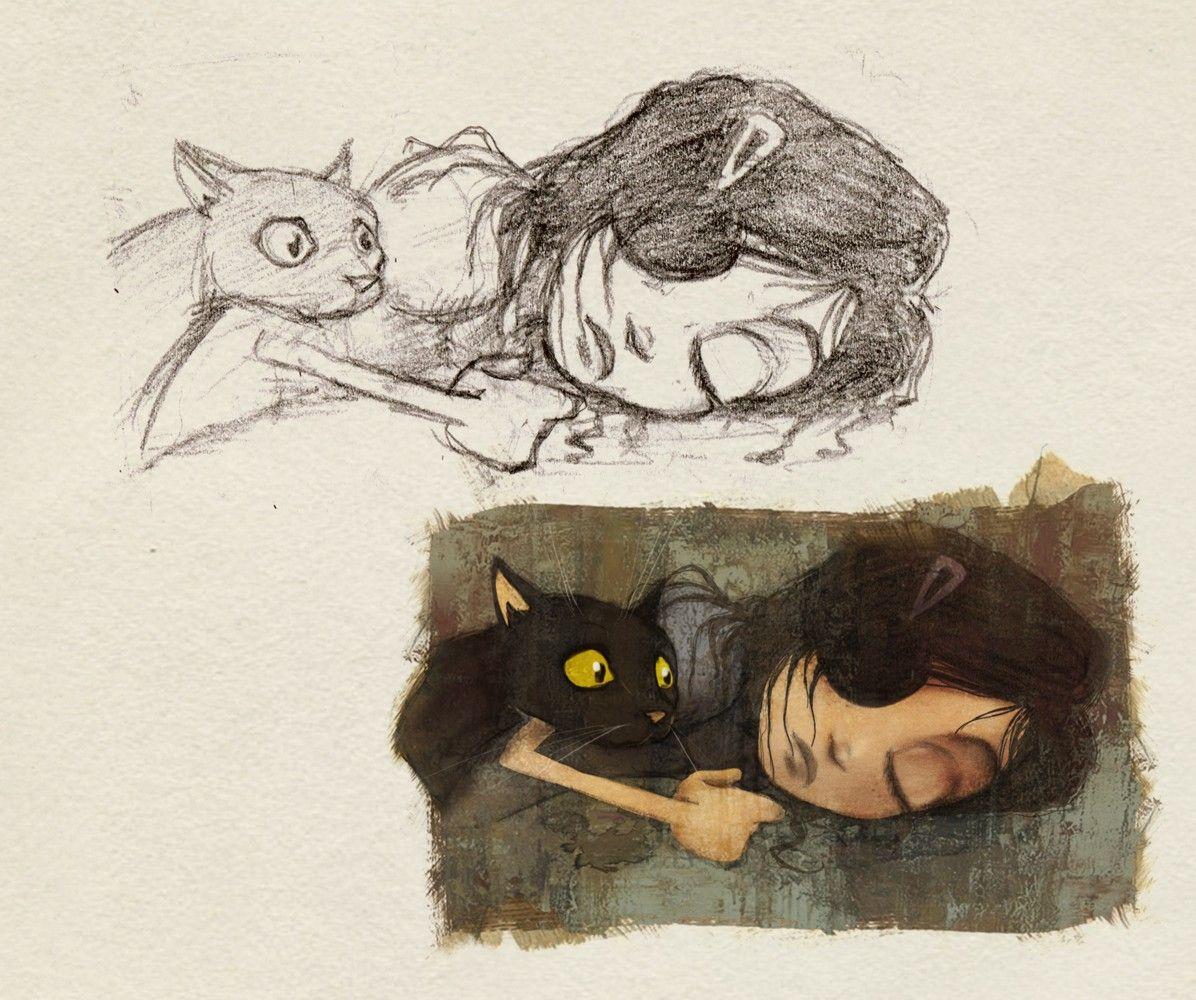 """Lápiz y color del capítulo Violeta de """"La inspiración dormida"""""""