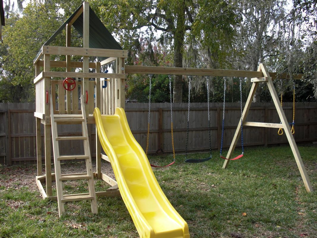how to build diy wood fort and swing set plans from jack u0027s