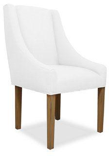 Lene Tufted Swoop Armchair, White