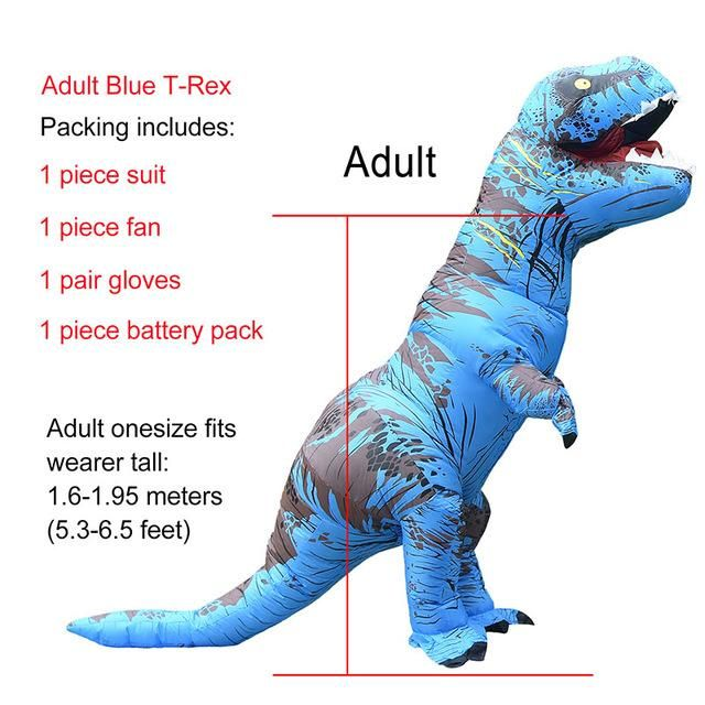 Kids T-rex Inflatable Dinosaur Costume Halloween Jurassic World Park Inflatable Cosplay Costume Party Costume For Children Home