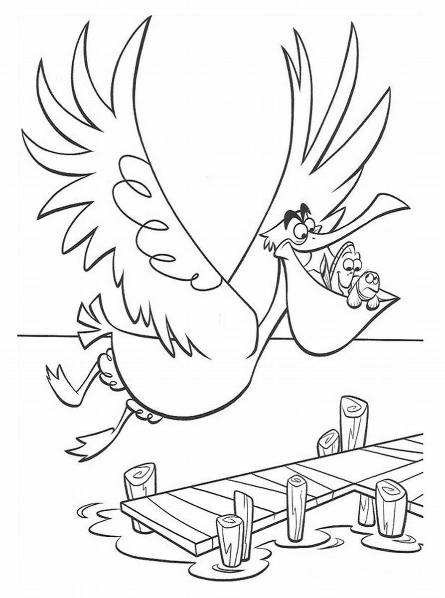 Nemo Coloring Pages To Print Finding Nemo Coloring Pages Finding