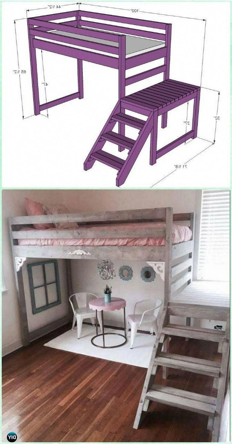 Ask Yourself Why Am I Constructing Something 10 Feet Broad If Plywood Is Available In 4 Foot Wide Sheets Says Lisa S Diy Loft Bed Kids Bunk Beds Kid Beds