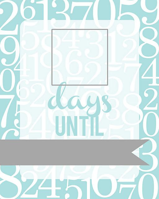 Free Printable Countdown Fill Able Frame More Colors With