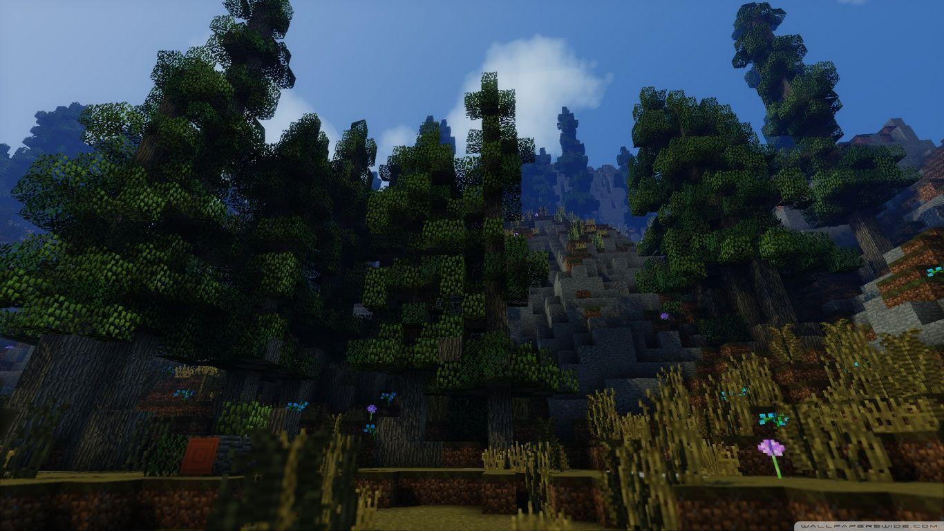 Minecraft With Shaders Hd Desktop Wallpaper High Definition