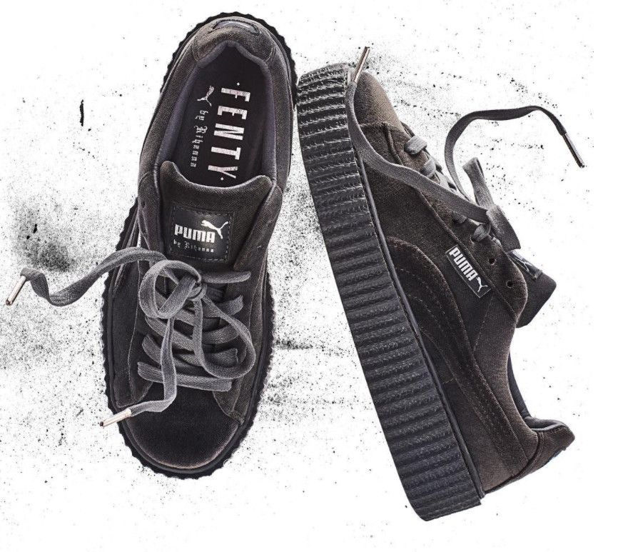 size 40 5a92c 62d44 Rihanna Puma Creeper Green Velvet | Dream Canvas... | Puma ...
