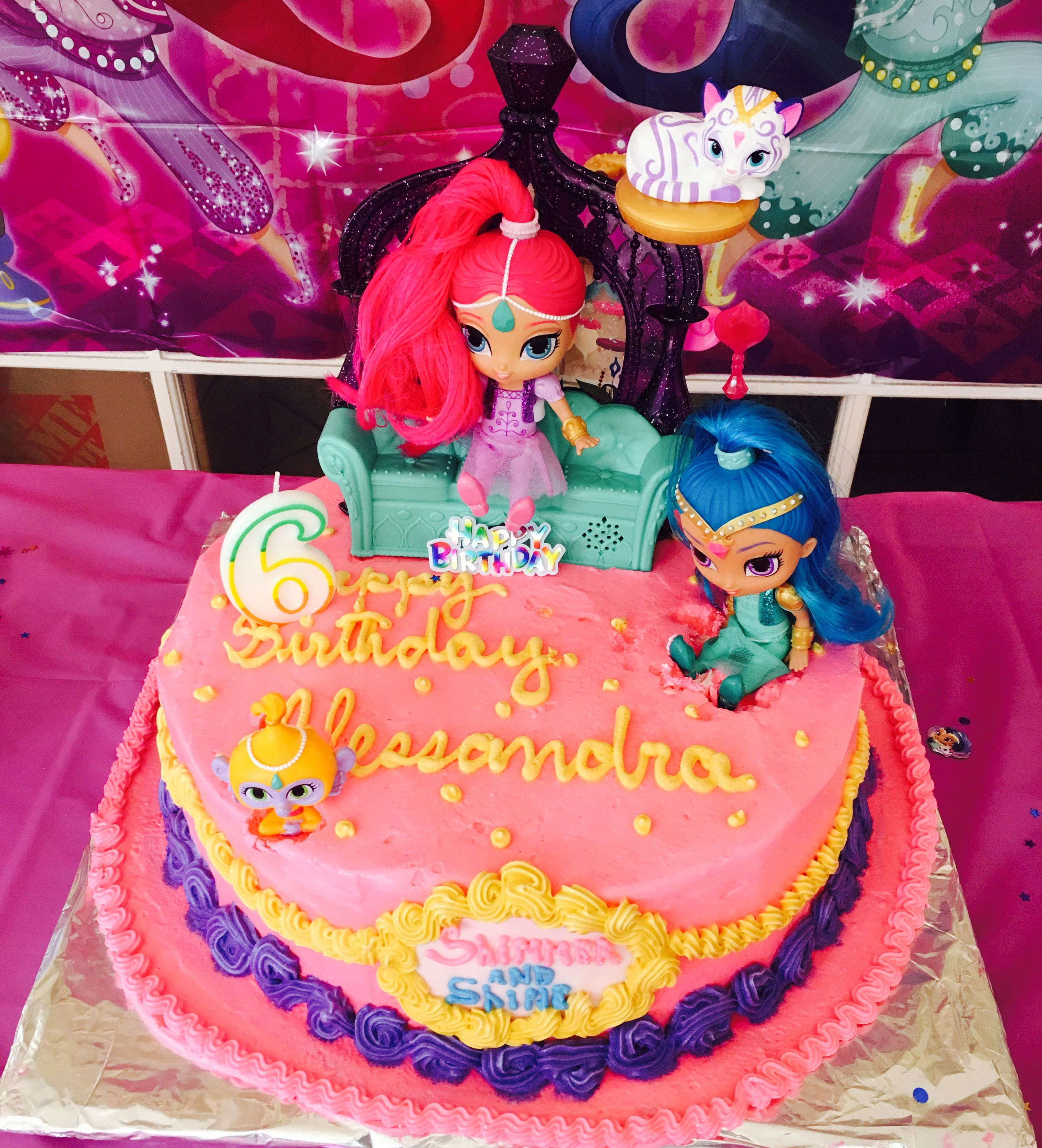 Shimmer and Shine cake