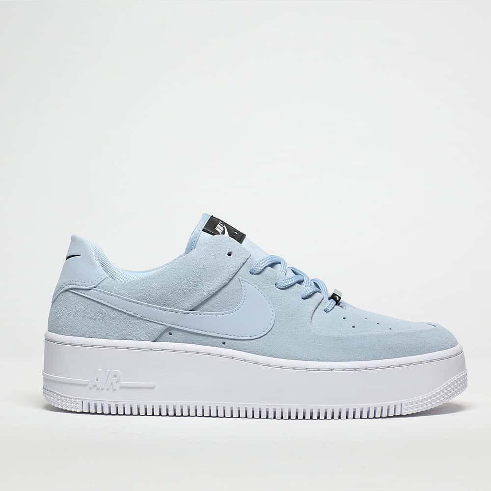 womens pale blue nike air force 1 sage