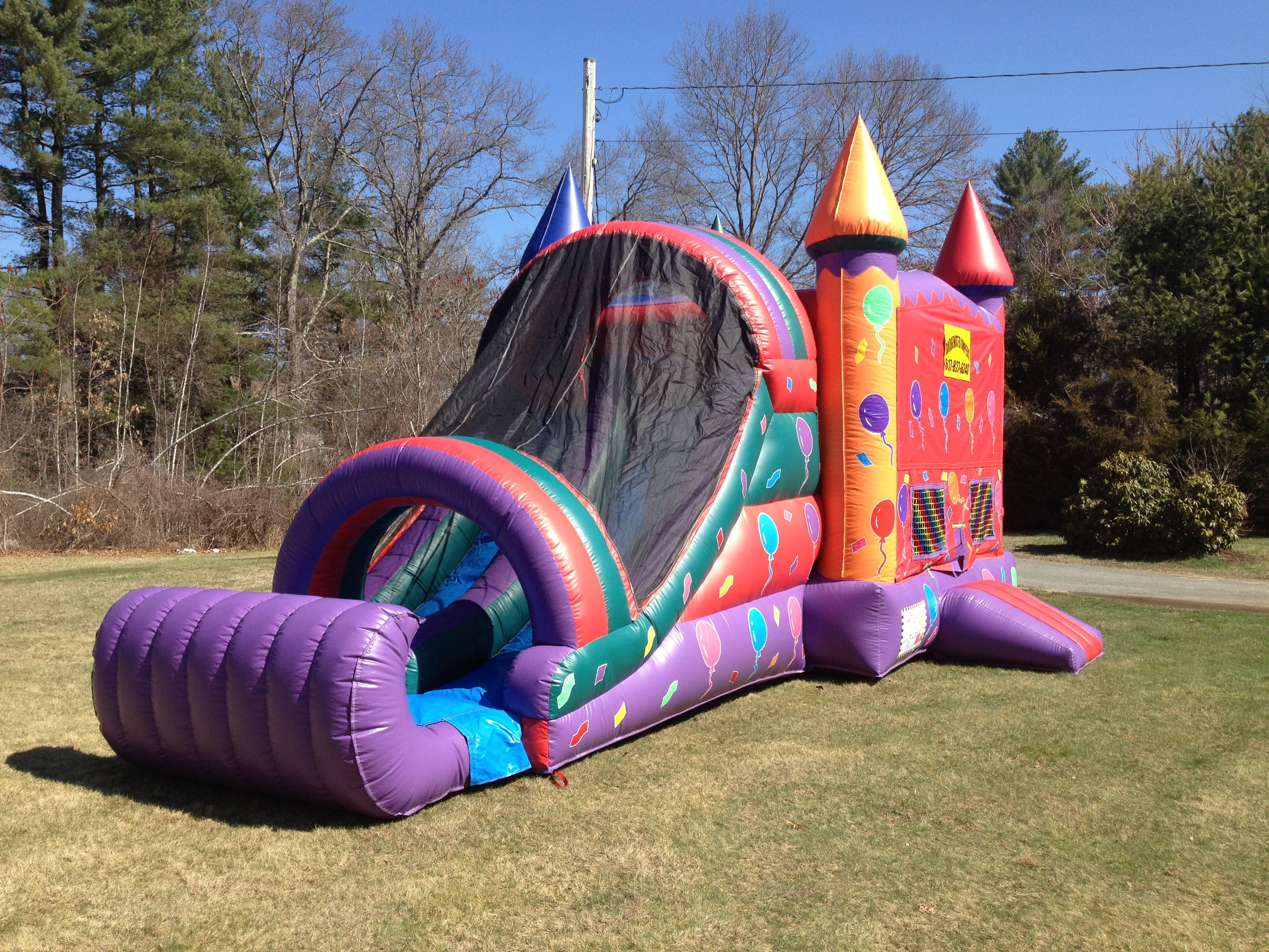 Balloon combo with dual slide bounce house rentals