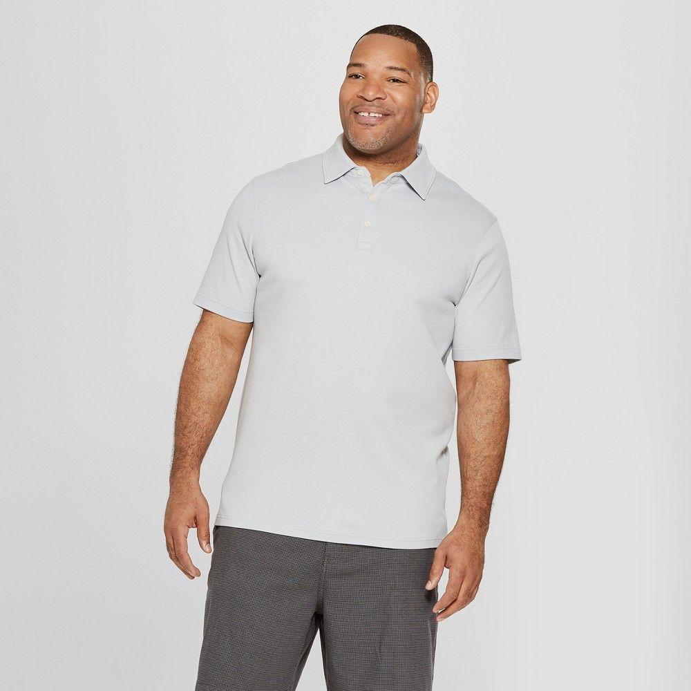 e1aeacb8d033d Men s Big   Tall Short Sleeve Elevated Ultra-Soft Polo Shirt - Goodfellow    Co Masonry Gray 2XBT