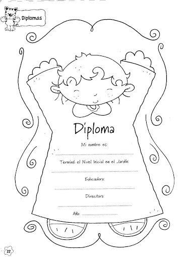 Figuras Maestra Jardinera Nº 8 Diplomas Para Imprimir Diplomas Para Ninos Diplomas