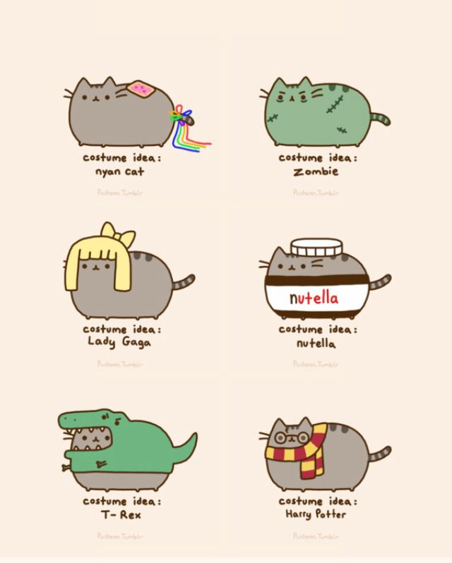 Pictures Of Pusheen The Cat In Costumes