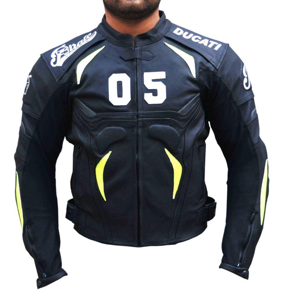 Motorbike Leather Jacket Air Vents Wh Jackets Motorbike