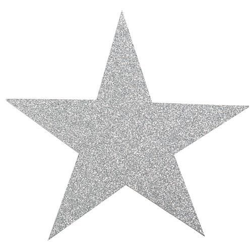 Our Silver Glittered Star Cutouts Will Give Your Event A Sparkling Look When You Scatter Them On The Floor Attach To Silver Glitter Glitter Stars Silver Stars